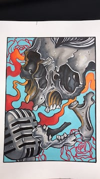 gray and brown skull painting Maxatawny, 19530