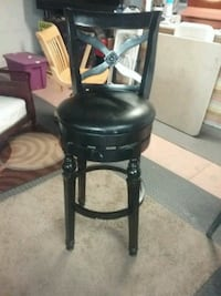 black leather quality padded bar stool, ONE only San Jose, 95148