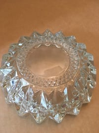 HEAVY CLEAR CRYSTAL CANDY DISH or ASHTRAY 58 km