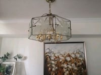 Chandelier, 11 bulbs holders, Golden Color. Clean no scratch Mississauga, L5A 3X2
