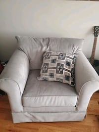 armchair and pillow