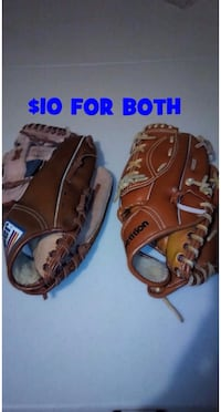 2 BASEBALL GLOVES (Kids Size Age 10 years and up) Brampton, L7A