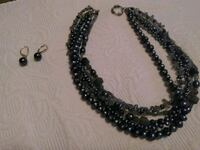 Authentic pearls and earrings