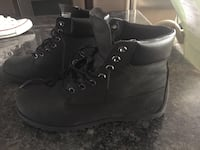 pair of black Timberland work boots Calgary, T3C 1A3