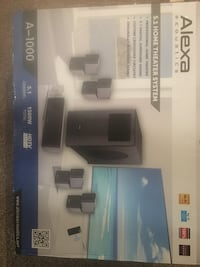 Black and gray home theater system box Union City, 30291