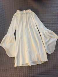 Off-Shoulder Bell-Sleeves White Dress San Jose, 95127