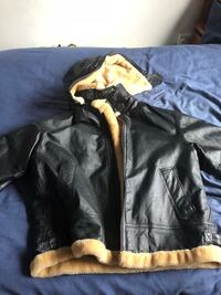 Black leather zip-up jacket Coventry, CV5 6QT