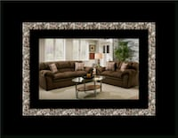Chocolate fabric sofa and loveseat Alexandria, 22305