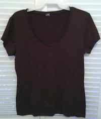 J. CREW LARGE BROWN BASIC SCOOP NECK SHORT SLEEVE T SHIRT Broomall