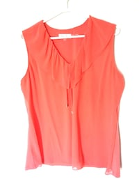 new CK Ruffle V-neck Top XL Burnaby