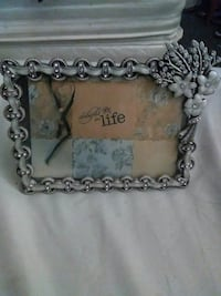 silver floral picture frame