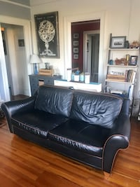 Dark blue leather couch Raleigh, 27601