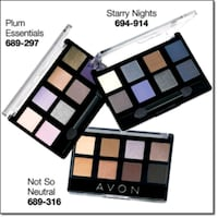 Avon 8-in-1 eyeshadow palettes Whitchurch-Stouffville, L4A 0A9