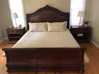 King Size Bedframe and 2 Nightstands Chevy Chase