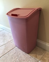 Tall kitchen trash can with lid - obo