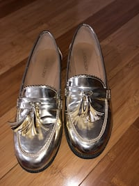 pair of gray leather loafers 1171 mi