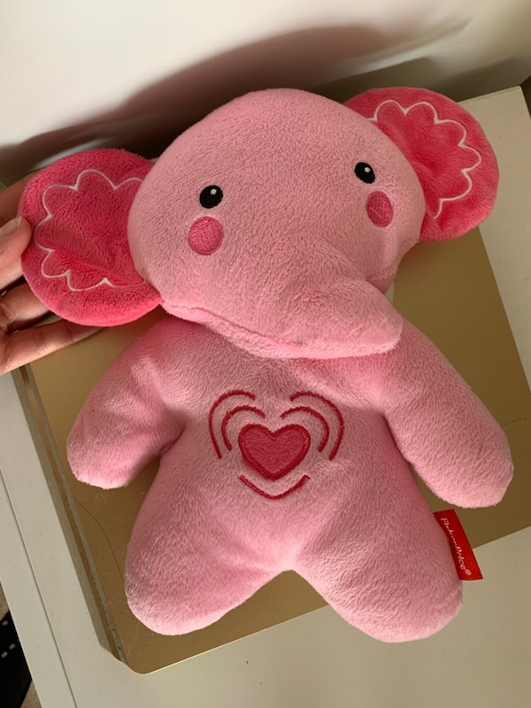 Fisher price pink elephant vibrations and lullabies like new