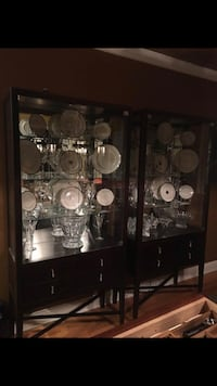 2-China Cabinets with Lights