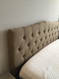 Tan-Colored Headboard (King Size Bed) Potomac