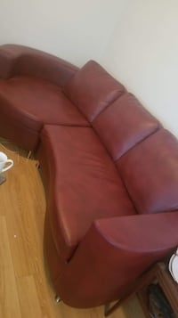 Beautiful amazing leather sofa  one year old