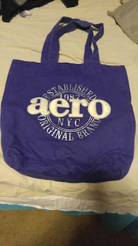 blue aeropostale fabric tote bag