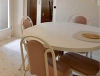 White kitchen table with 5 chairs Brampton, L6T 2L9