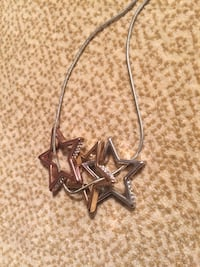 Silver chain necklace with star pendant St Albert, T8N 3M6