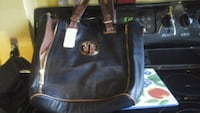 black Michael Kors leather tote bag Montréal, H8R 2E2