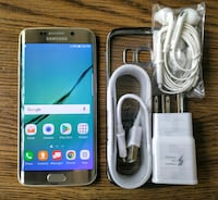 Gold Galaxy S6 Edge 64GB UNLOCKED w/ Accessories