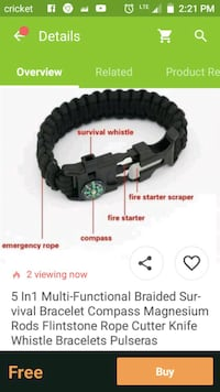 Outdoor survival bracelet Tempe, 85283