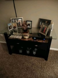 black wooden TV stand with flat screen TV Gaithersburg, 20878