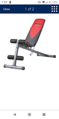 Workout weight bench