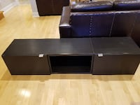 black wooden 2-drawer TV stand TORONTO
