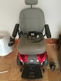 black and red powerchair