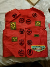 Authentic Boy Scout Felt Vest with Badges Sunrise, FL, USA, 33322