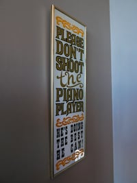 "Vintage Bar Parlor Sign ""Please Don't Shoot the Piano Player He's Doing the Best He Can"" Calgary"