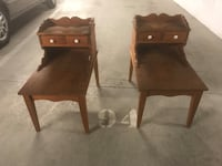 two brown wooden side tables Surrey, V3S