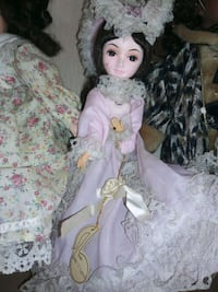 girl doll in pink and white floral dress Dundalk, 21222