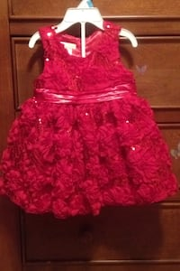 Red girls social dress Woodway, 76712