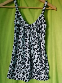 women's black and white leopard print sleeveless top Winnipeg, R3K 0V7