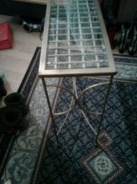 Very Nice Brass with Glass Table stand for sale. Edmonton, T6E 4S6