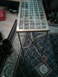 Very Nice Brass with Glass Table stand for sale.