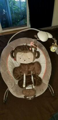 Fisher price baby bouncer, cover & changing pad