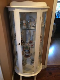 white wooden framed glass display cabinet Port Jefferson Station, 11776