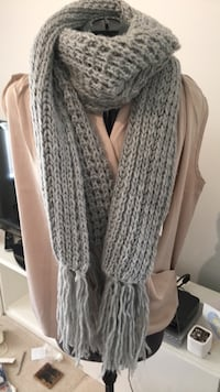 Grey knitted Scarf Vancouver, V5R 1H3