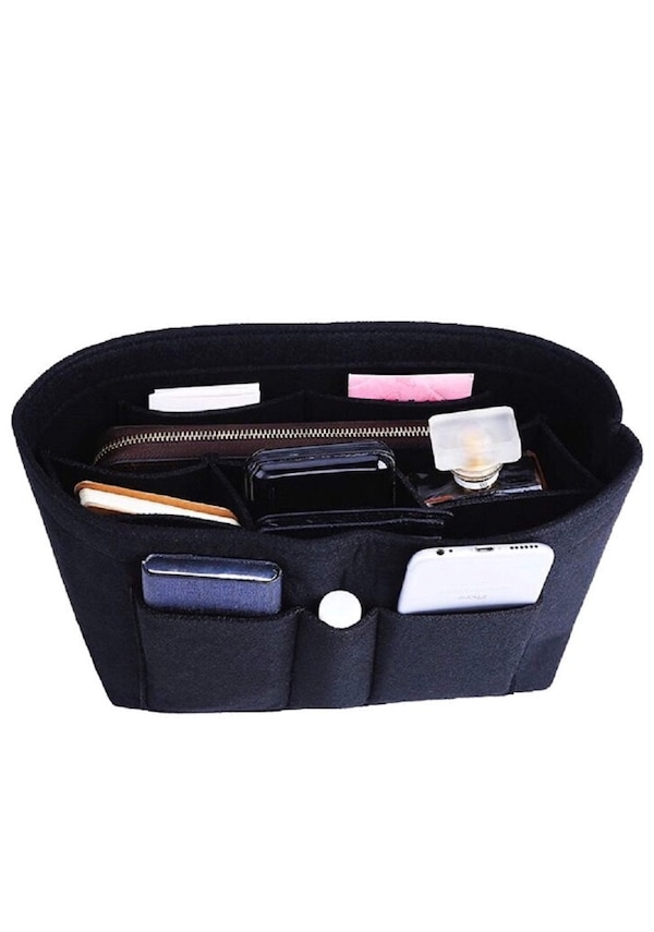 306ed9af3b3e Felt Insert Bag Organizer Bag In Bag For Handbag Purse Organizer, 13  Colors, Large