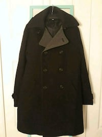 Mens Black H&M Wool Blend Coat Woodbridge, 22192