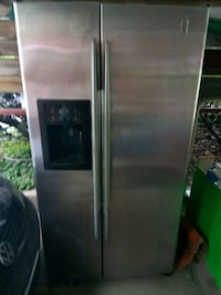 stainless steel side-by-side refrigerator with dispenser Alton