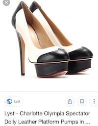 Charlotte Olympia Spectator Dolly Leather Platform Pumps Toronto, M8Z 4S5