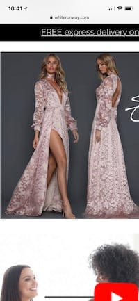 women's pink floral long-sleeved dress Fairfax, 22031